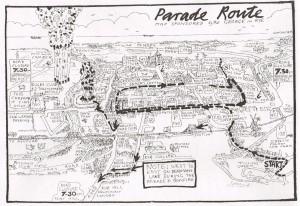 Rye Bonfire Parade Route 2013