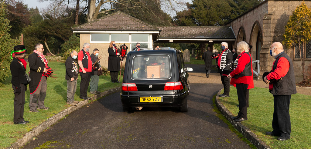 Bob Booth's funeral